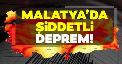 Malatya'nın Kale ilçesinde 4,9 büyüklüğünde deprem