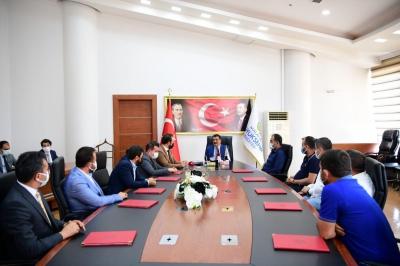 Mimder Heyeti Başkan Gürkan'ı Ziyaret Etti